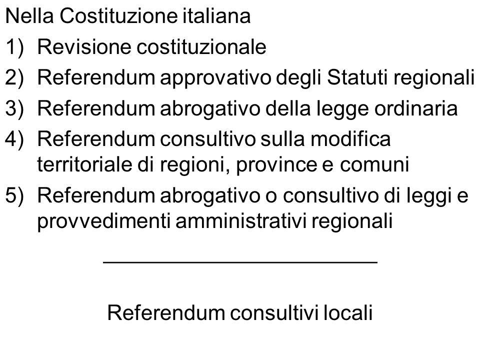 Nella Costituzione italiana Revisione costituzionale