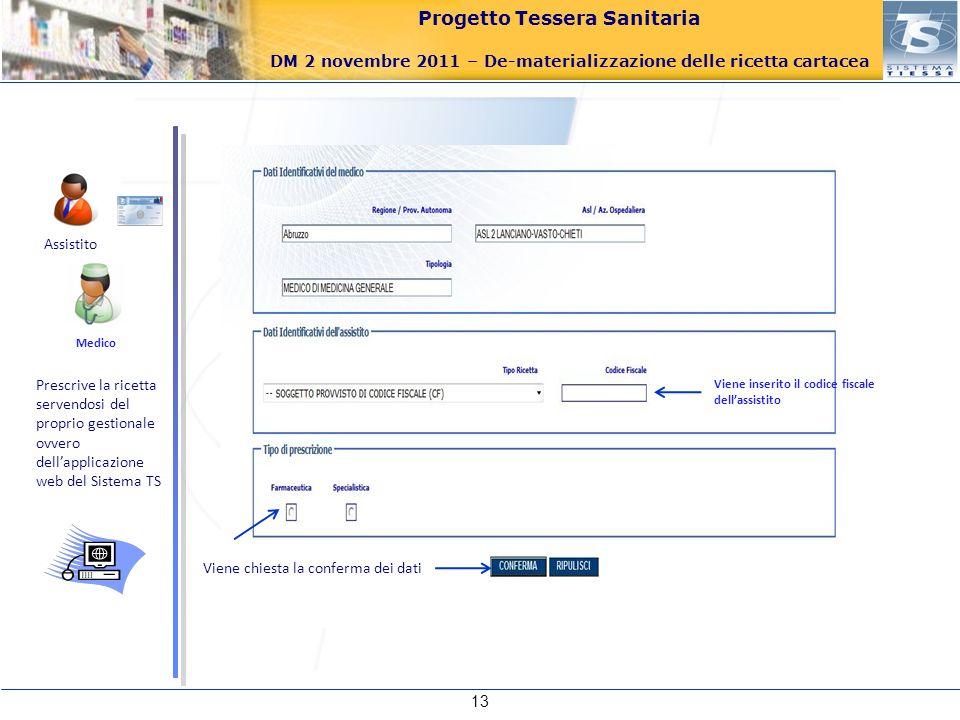 Assistito Medico. Prescrive la ricetta servendosi del proprio gestionale ovvero dell'applicazione web del Sistema TS.