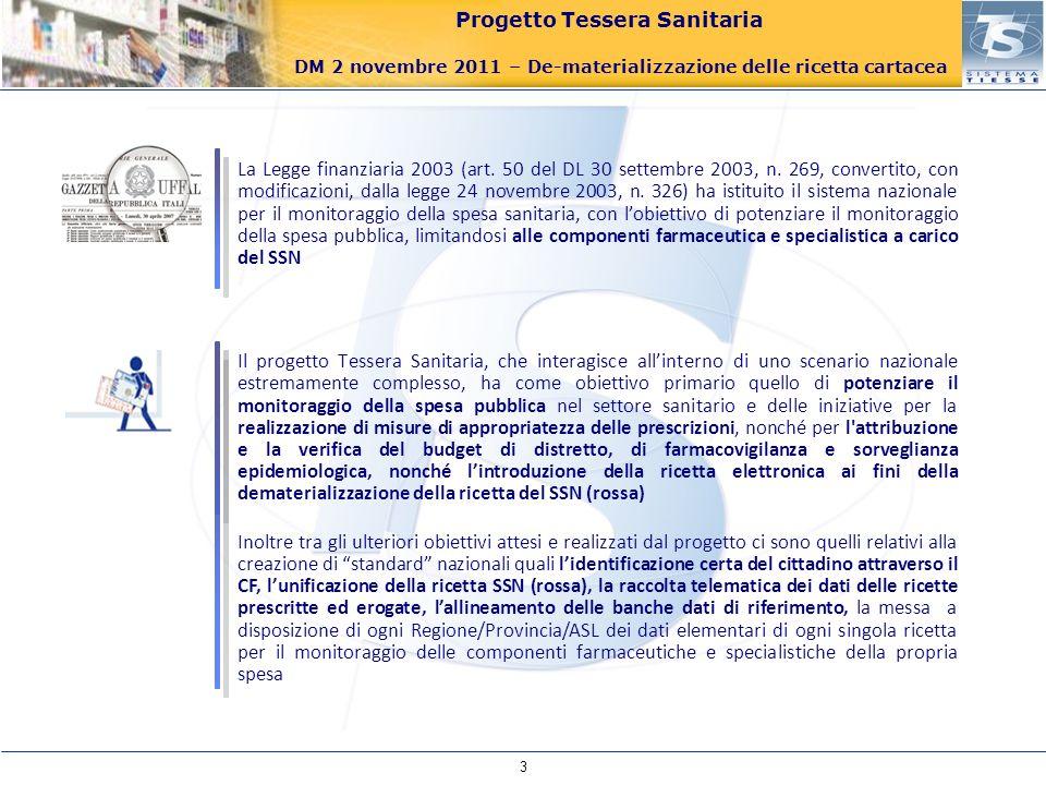 La Legge finanziaria 2003 (art. 50 del DL 30 settembre 2003, n