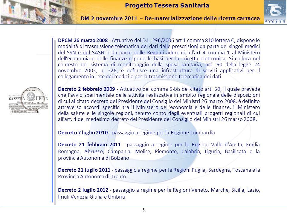 Decreto 7 luglio 2010 – passaggio a regime per la Regione Lombardia