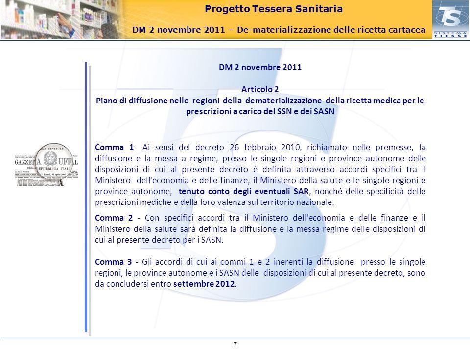 DM 2 novembre 2011 Articolo 2.