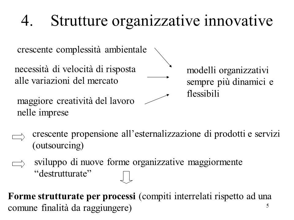 4. Strutture organizzative innovative