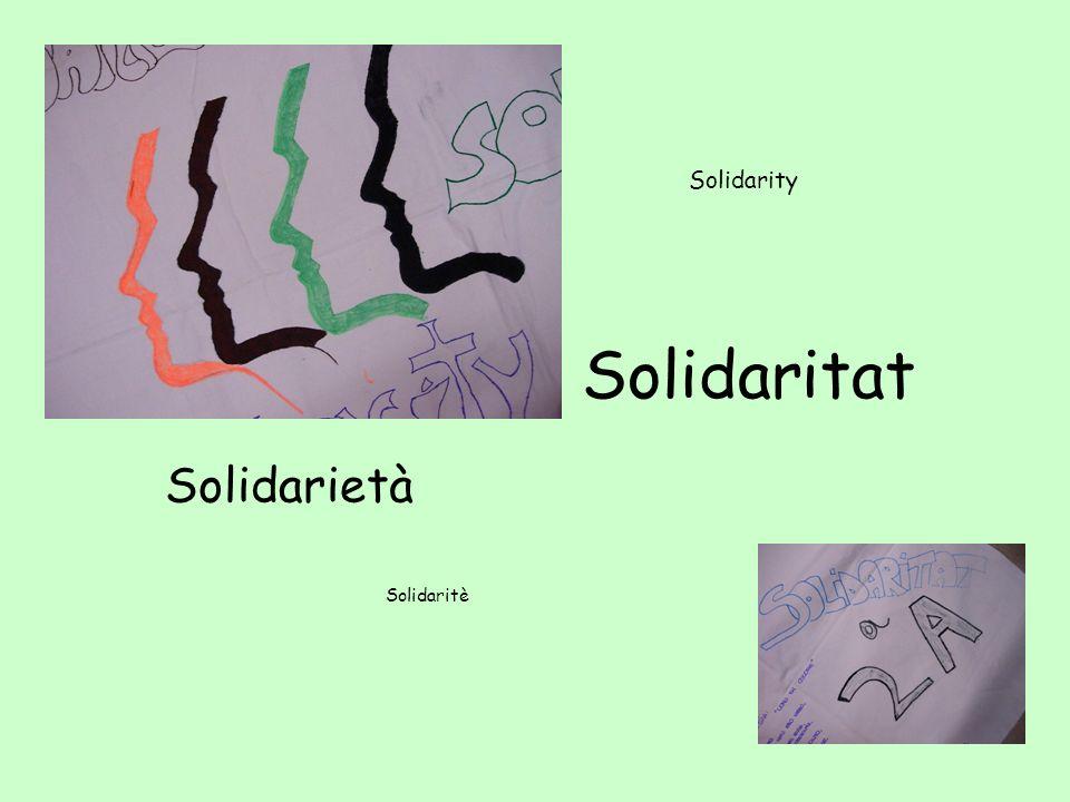 c Solidarity s Solidaritat Solidarietà Solidaritè