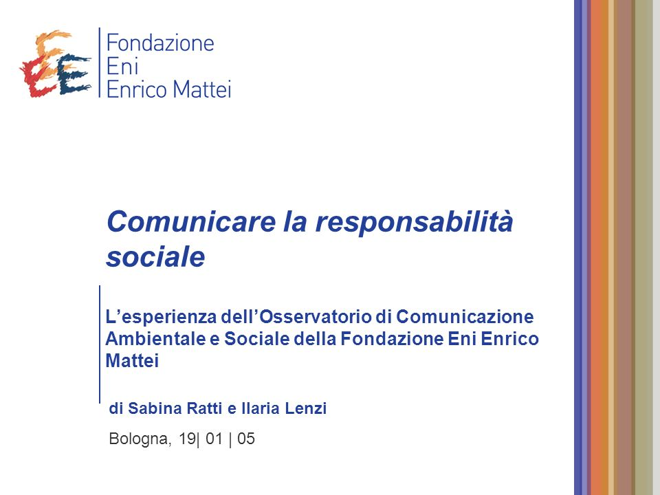 Comunicare la responsabilità sociale