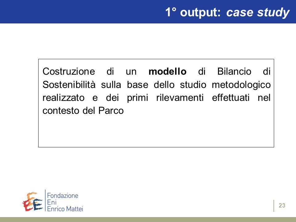 1° output: case study