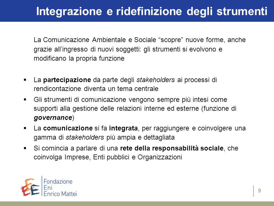 Integrazione e ridefinizione degli strumenti