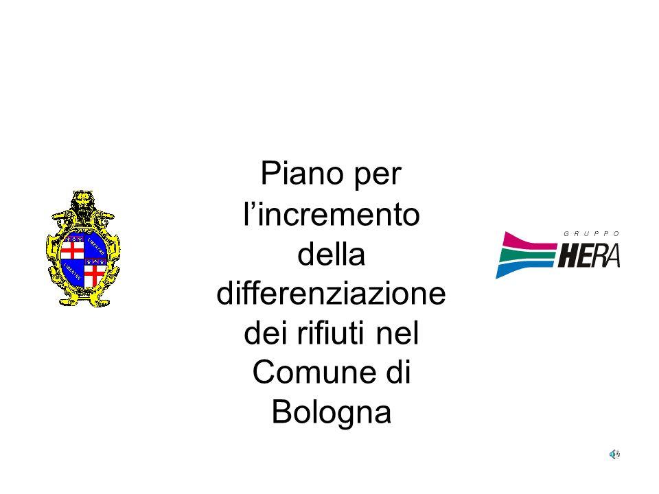 Piano per l'incremento della differenziazione dei rifiuti nel Comune di Bologna