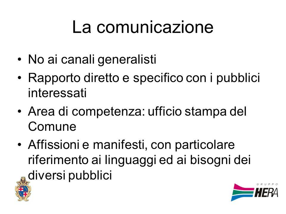 La comunicazione No ai canali generalisti