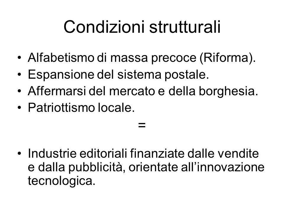 Condizioni strutturali