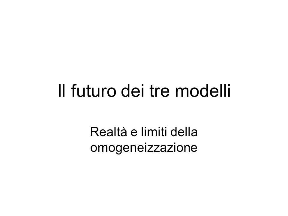 Il futuro dei tre modelli