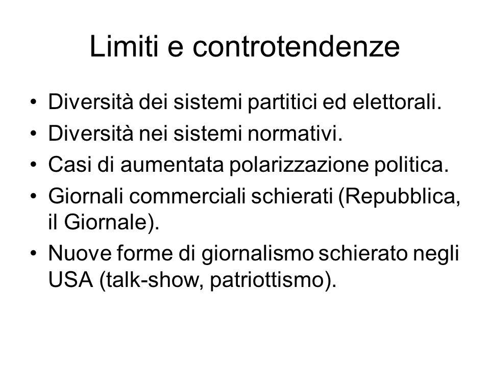 Limiti e controtendenze