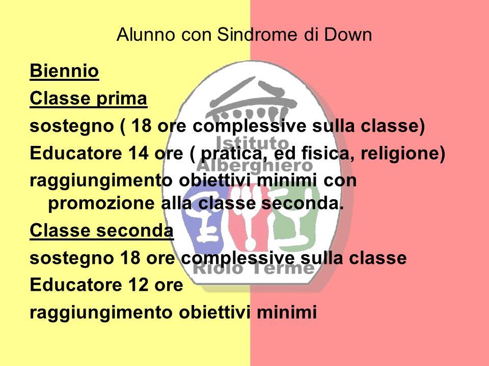 Alunno con Sindrome di Down