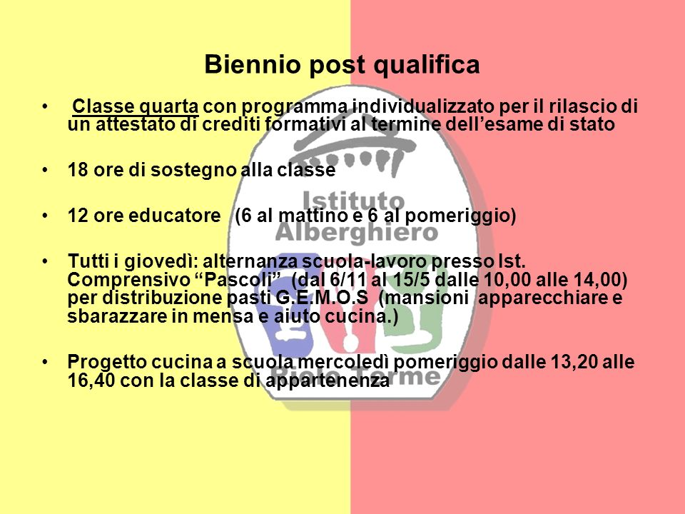 Biennio post qualifica