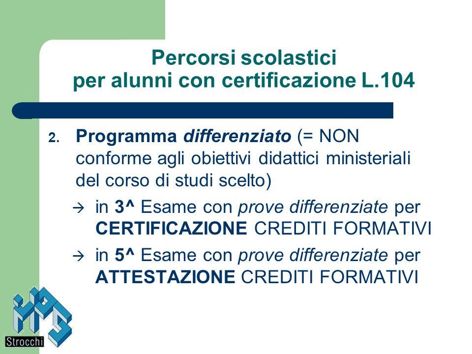 Percorsi scolastici per alunni con certificazione L.104