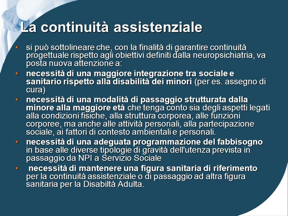 La continuità assistenziale