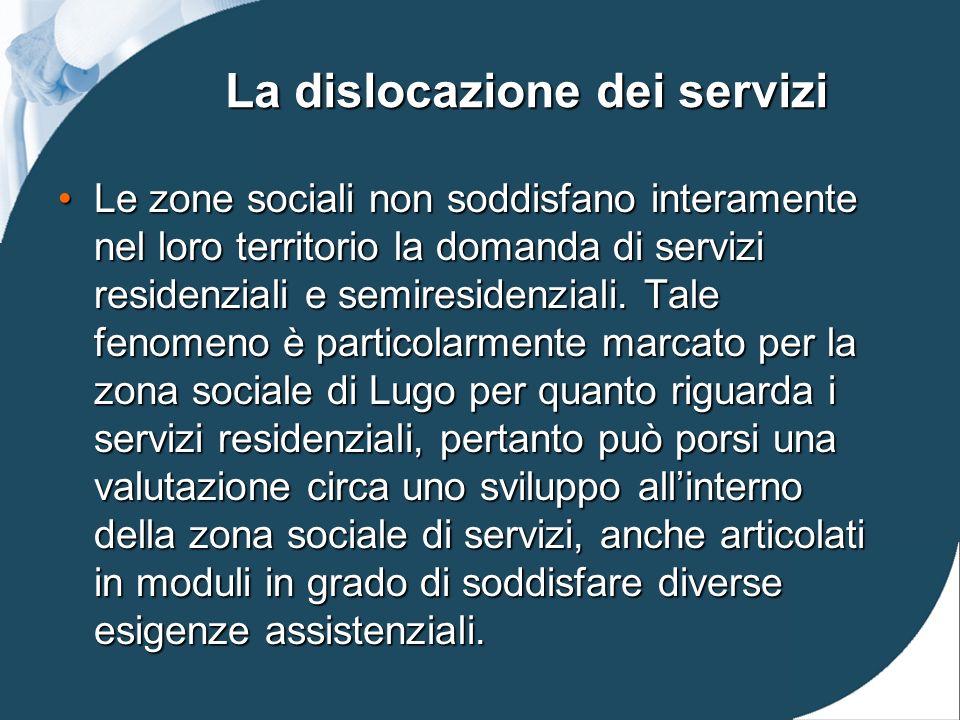 La dislocazione dei servizi