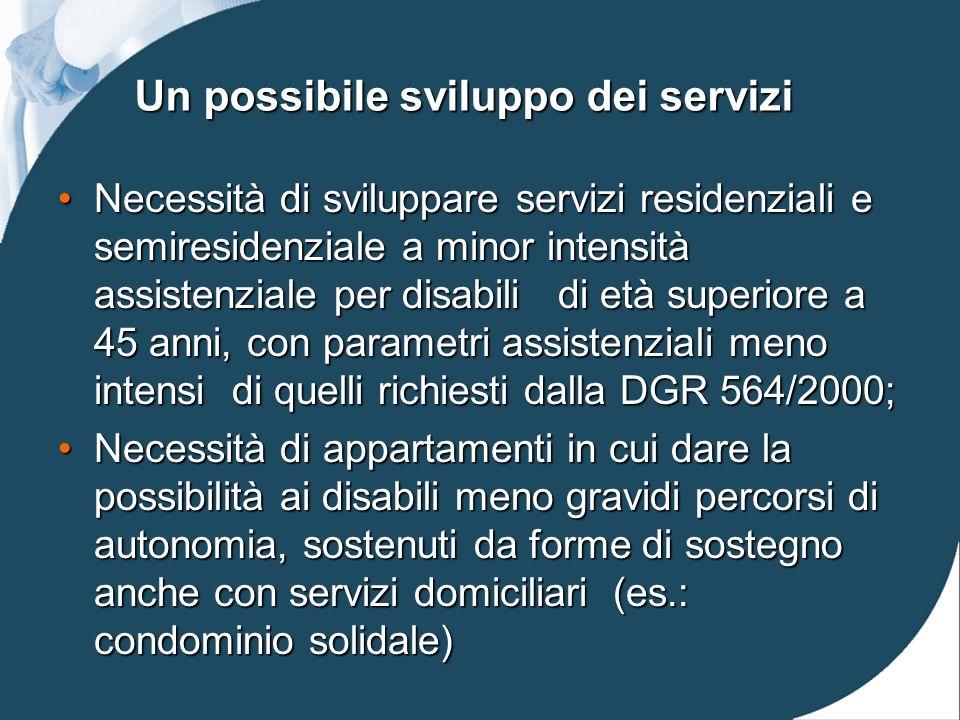 Un possibile sviluppo dei servizi