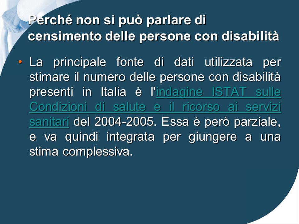 Perché non si può parlare di censimento delle persone con disabilità