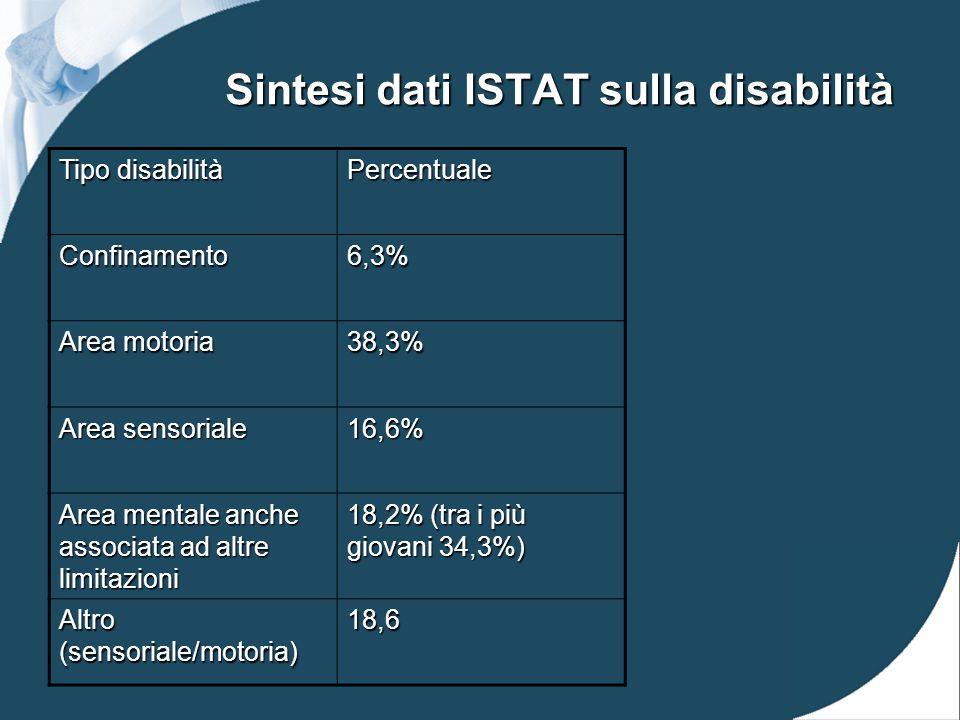 Sintesi dati ISTAT sulla disabilità