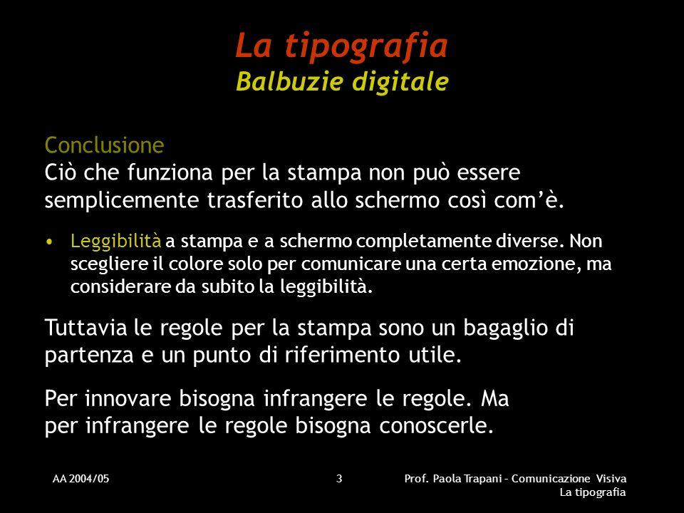 La tipografia Balbuzie digitale