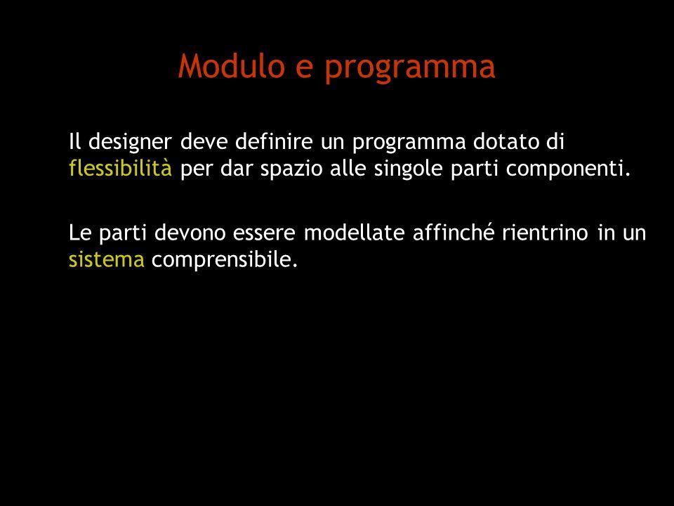 Modulo e programma Il designer deve definire un programma dotato di