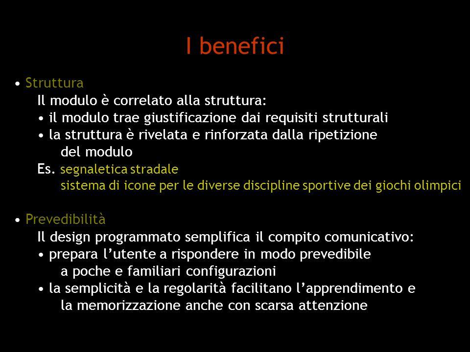 I benefici Struttura Il modulo è correlato alla struttura: