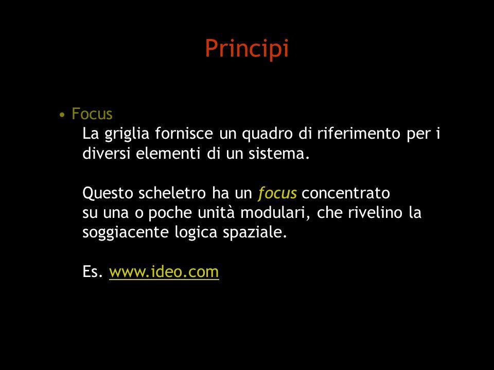 Principi Focus La griglia fornisce un quadro di riferimento per i