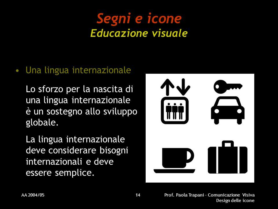 Segni e icone Educazione visuale