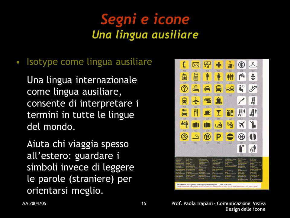 Segni e icone Una lingua ausiliare