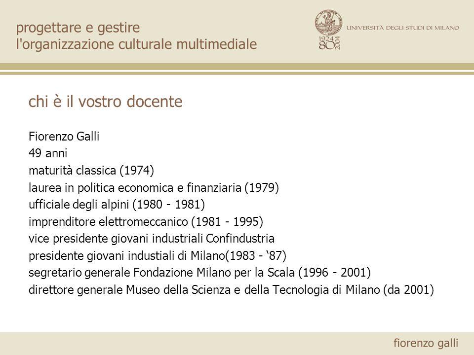 chi è il vostro docente Fiorenzo Galli 49 anni