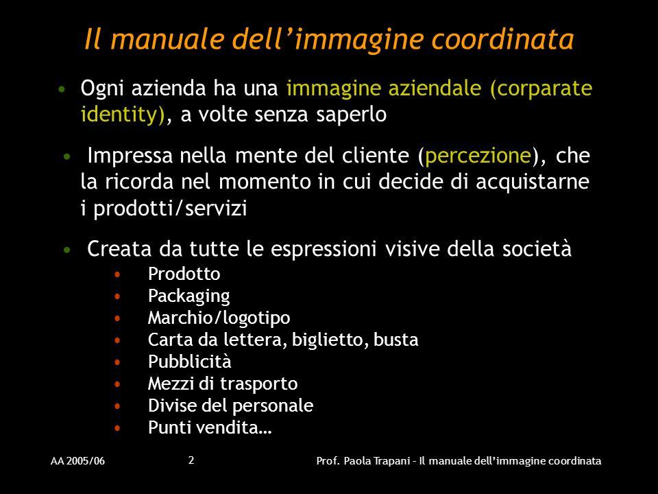 Il manuale dell'immagine coordinata