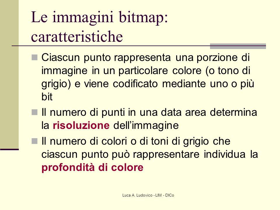 Le immagini bitmap: caratteristiche
