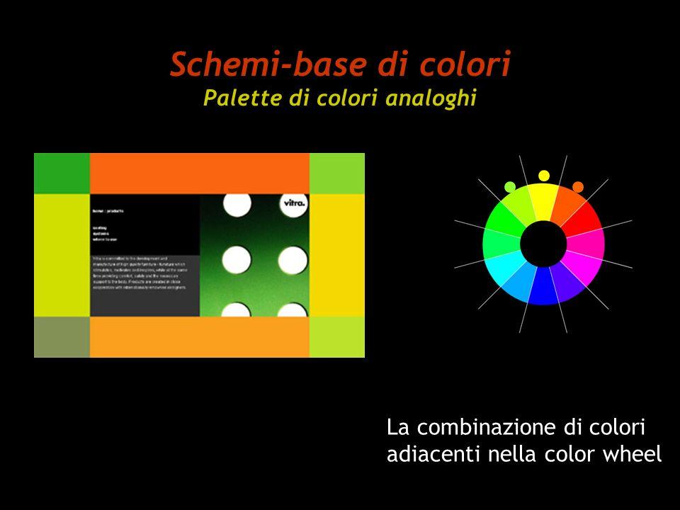 Schemi-base di colori Palette di colori analoghi