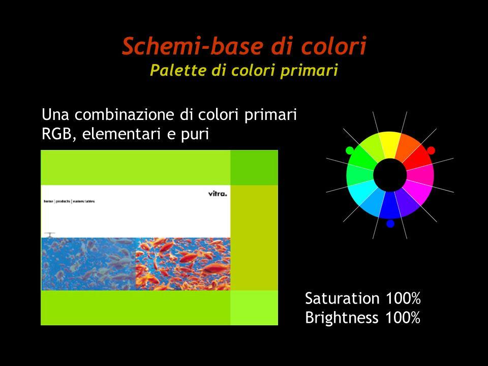 Schemi-base di colori Palette di colori primari
