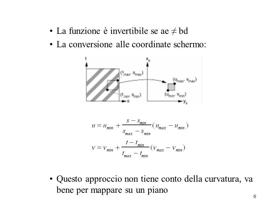 La funzione è invertibile se ae ≠ bd