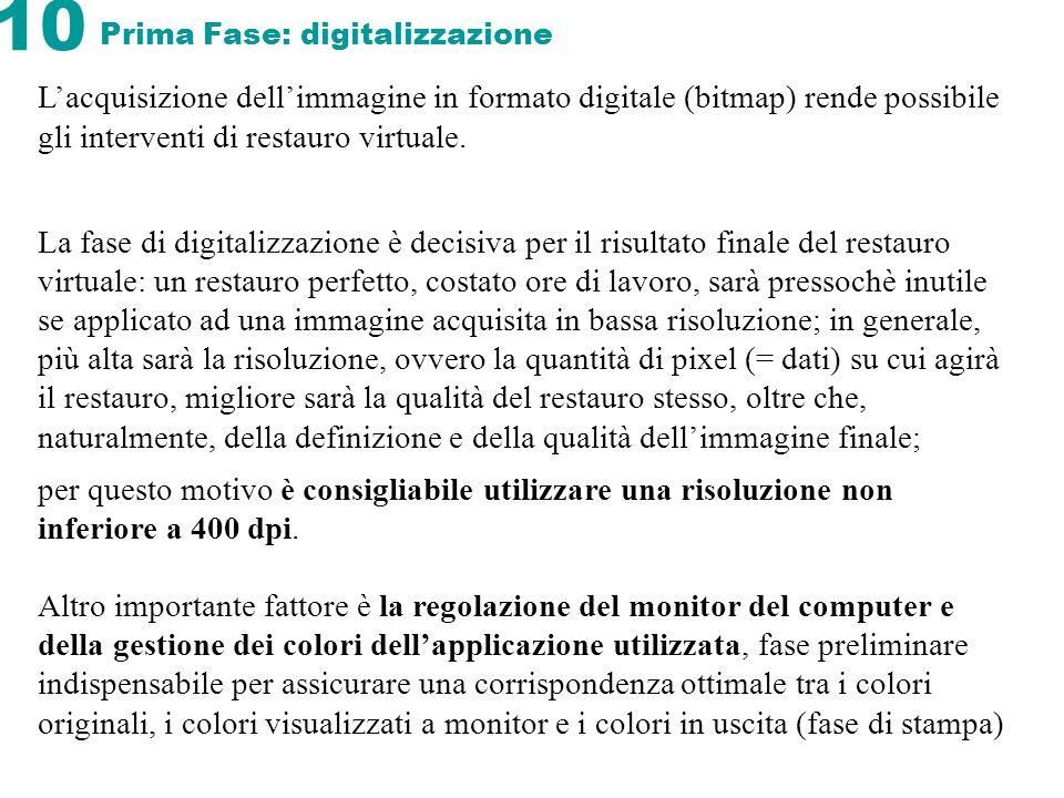 Prima Fase: digitalizzazione