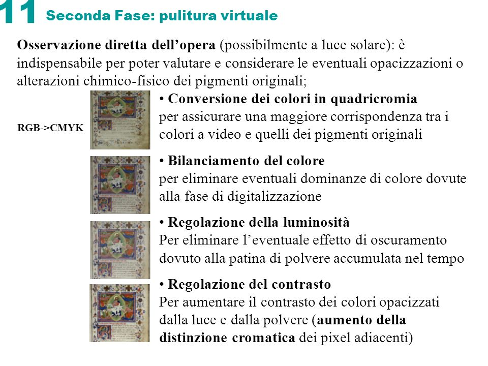 Seconda Fase: pulitura virtuale