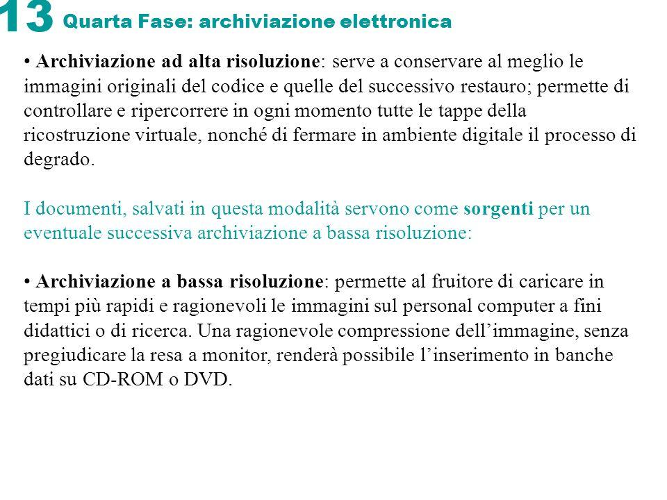 Quarta Fase: archiviazione elettronica