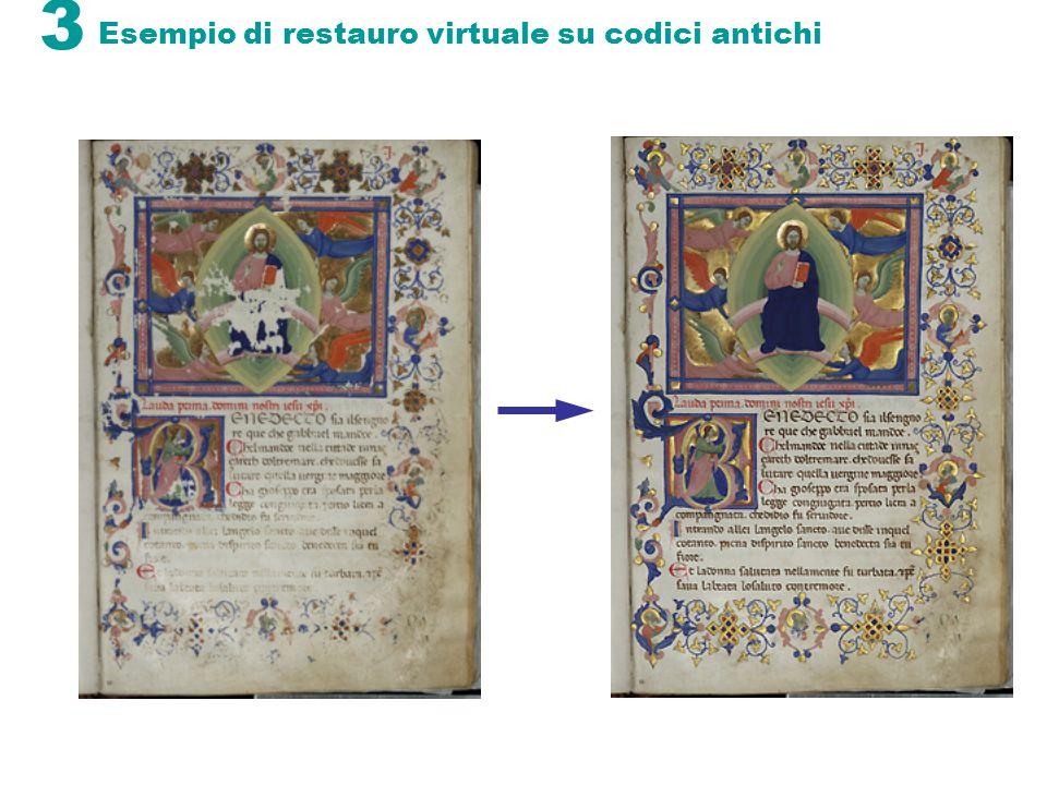 Esempio di restauro virtuale su codici antichi