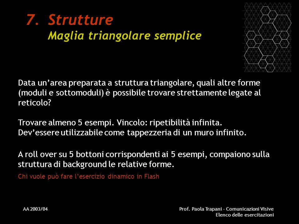 Strutture Maglia triangolare semplice