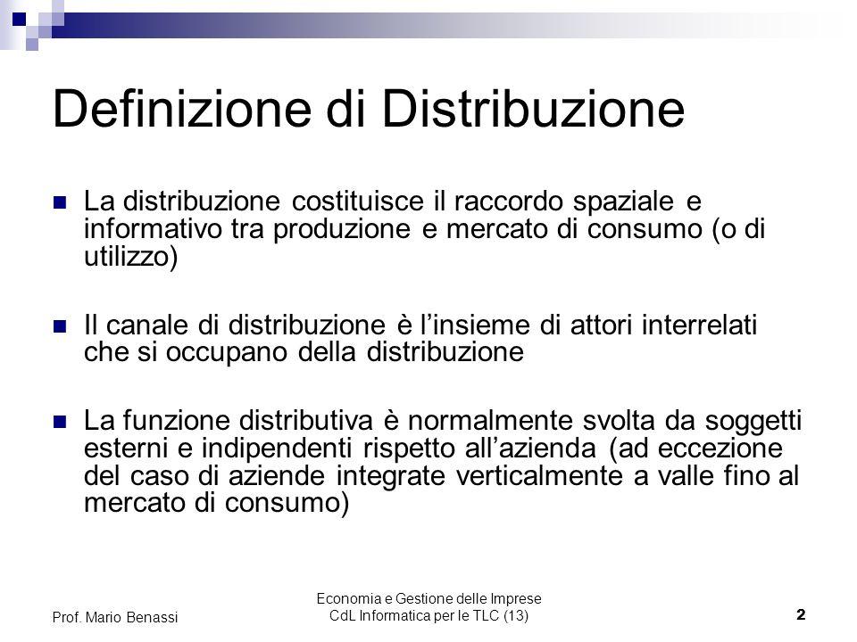 Definizione di Distribuzione
