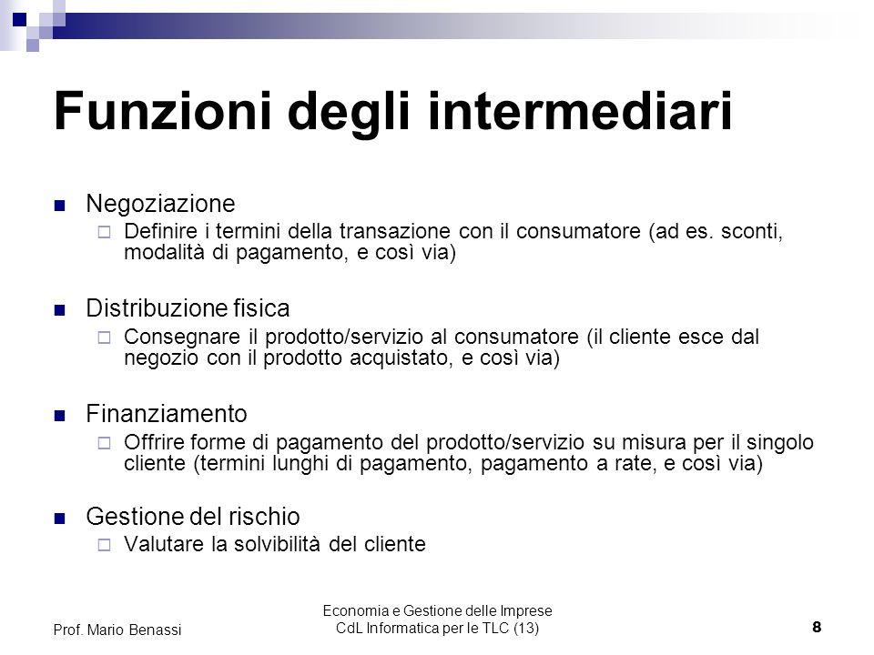 Funzioni degli intermediari