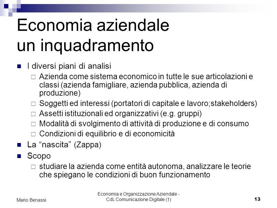 Economia aziendale un inquadramento