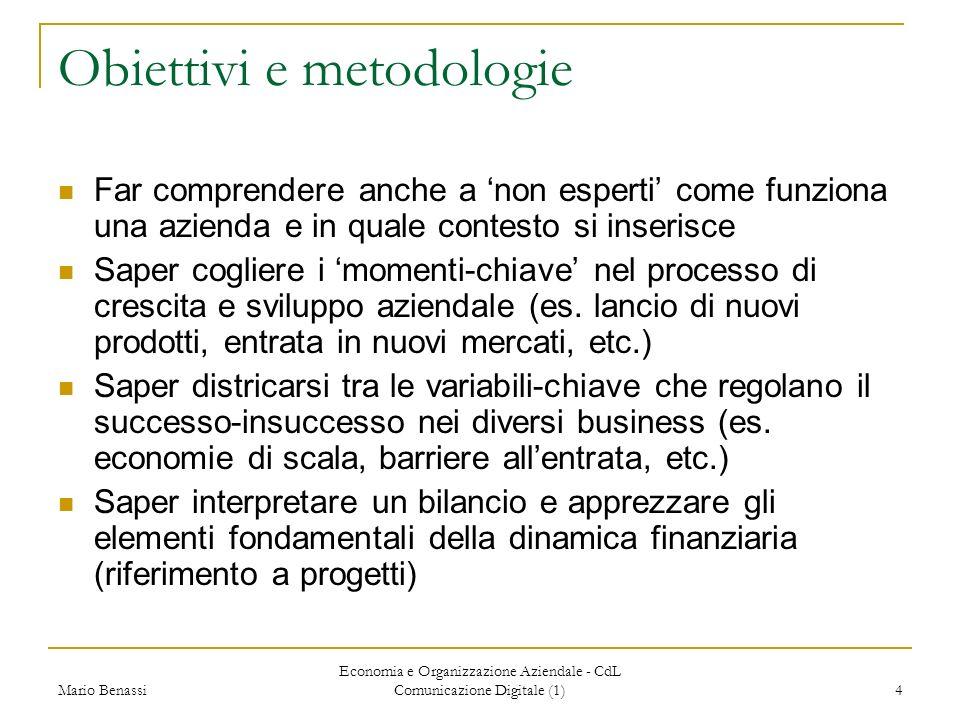 Obiettivi e metodologie