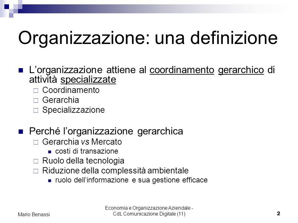 Organizzazione: una definizione