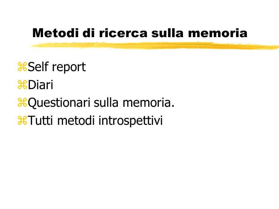 Metodi di ricerca sulla memoria