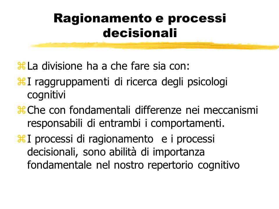 Ragionamento e processi decisionali