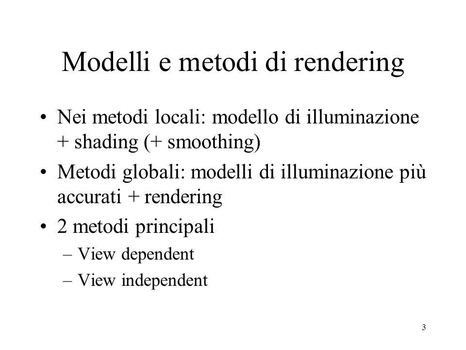 Modelli e metodi di rendering