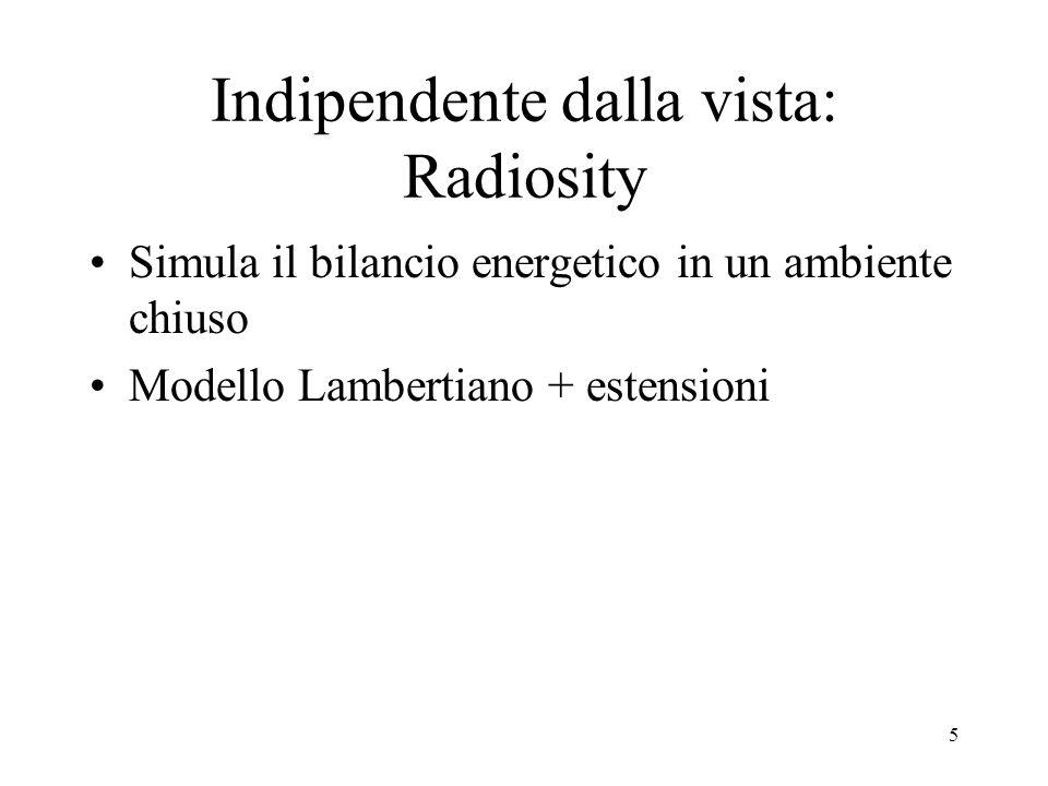 Indipendente dalla vista: Radiosity