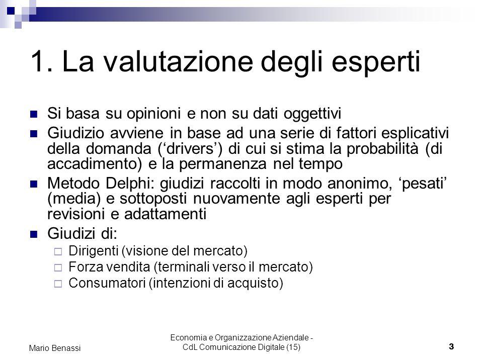 1. La valutazione degli esperti